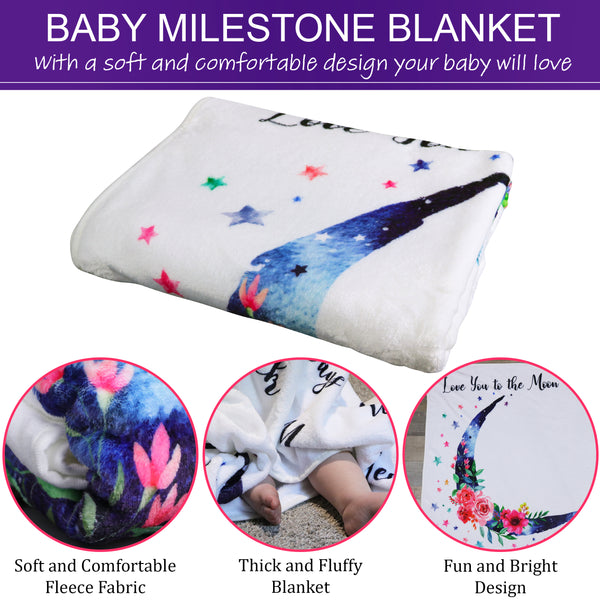 Baby Monthly Milestone Blanket for Baby Girl - Jamie&Jayden