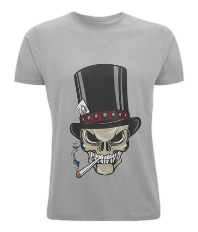 Skull with Top Hat and joint tee shirt