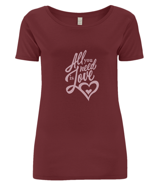 all you need is love woman tee shirt