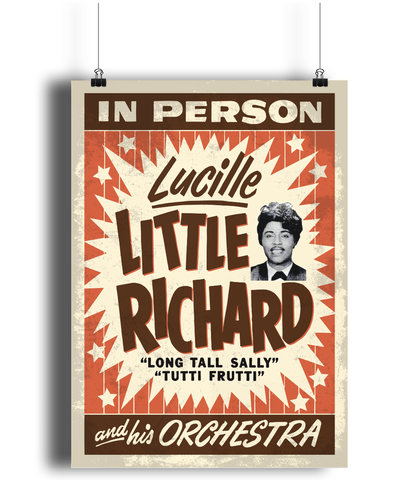 Little Richard replica concert poster