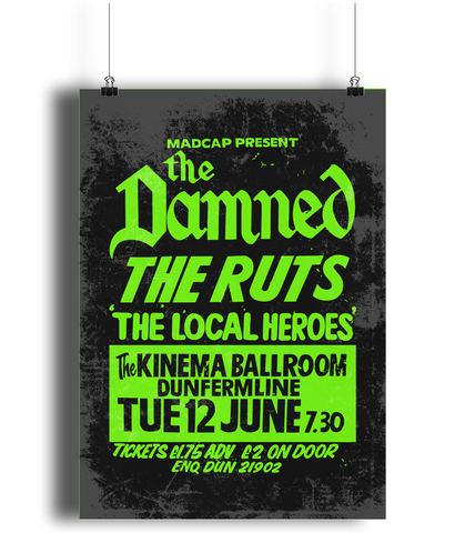the damned replica punk poster