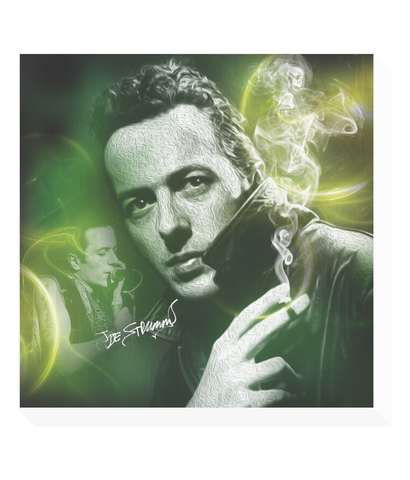 joe strummer clash canvas print
