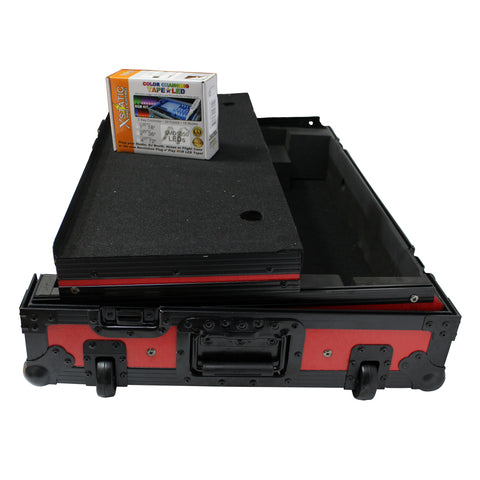 ProX XS-MCX8000 WLTRB fits DENON MCX8000 Flight Road Case With Sliding Laptop Shelf and Wheels