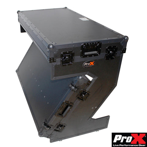 ProX XS-ZTABLEBL ProX Portable Z-Style Dj Table Flight Case with handles & wheels Black on Black