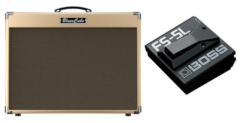 *BUNDLE* BC-ARTIST Roland Blues Cube Guitar Combo AMP-DEMO PLUS Roland FS-5U/5L Foot Switch