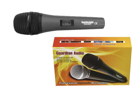 Guardian SOLOIST  microphone with on/off switch, mic clip, printed box