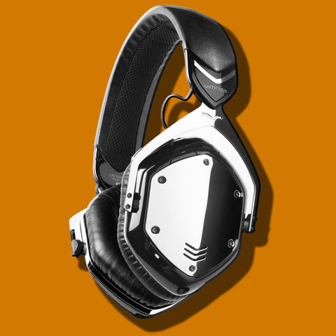 V-MODA Crossfade Wireless BlueTooth Headphones Phantom Chrome