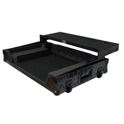 ProX XS-MCX8000 WLTBL fits DENON MCX8000 Flight Road Case With Sliding Laptop Shelf and Wheels