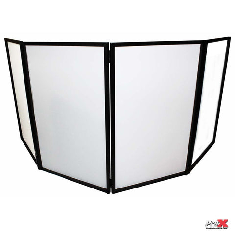 ProX XF-4X3048B ProX DJ FACADE 4x BLACK Collapse and Go Facade Panels with Carry Bag and Black/White