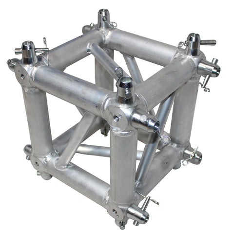 ProX XT-JB6W-4W 6 Way Square Truss Junction Block includes 4 Way 16 half conical couplers