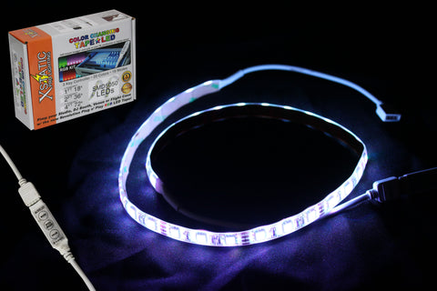 "X-S36RGBKIT Xstatic RGB LED Strip kit 24"" Remote control & power supply included"