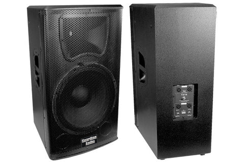 "Guardian TX15 TX15 15"" cast frame woofer and 1.75"" titanium compression driver, bi-ampable, fly poin"