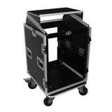 ProX T-14MRLT 14U Rack x 10U Top Mixer DJ Combo Flight Case w Laptop Shelf