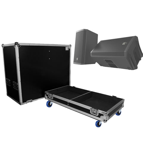 ProX X-EV-ZLX12P  ATA style flight case fits EV ZLX12P Dual speakers