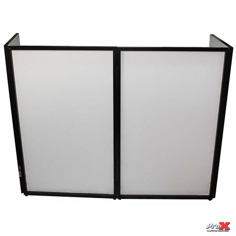 MAKE US AN OFFER ProX DJ FACADE 4x BLACK Collapse and Go Facade Panels with Carry Bag and Black/White Scrims