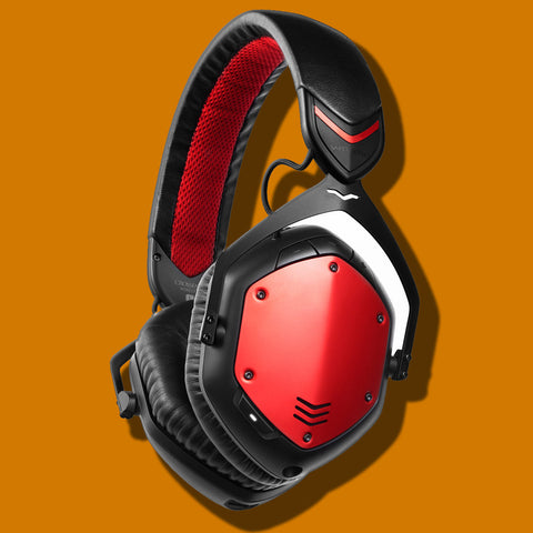 V-MODA Crossfade Wireless BlueTooth Headphones Rouge