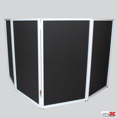 MAKE US AN OFFER ProX XF-4X3048W ProX DJ FACADE 4x WHITE Collapse and Go Facade Panels with Carry Bag and Black/White