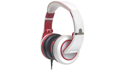 CAD Audio MH510W Closed-back Studio Headphones - White/Red - Two Cables, Two Sets Earpads