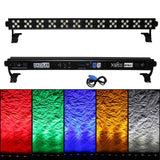 DAZZLER Bar 60x 3W RGBWA LED for Wash Uplighting Stage Club Bar Black Housing