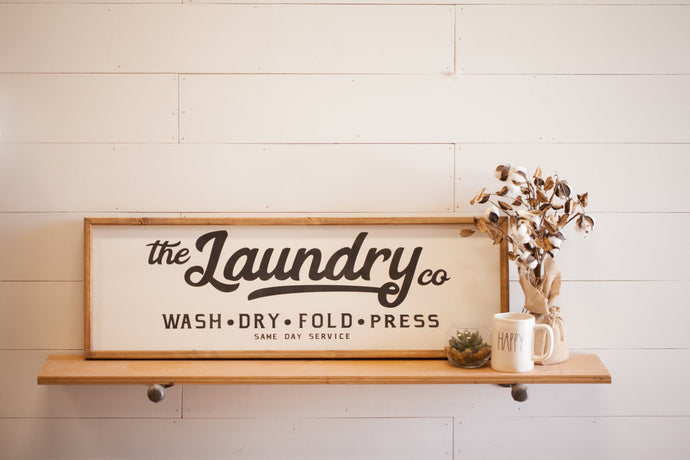 Wooden Laundry Sign