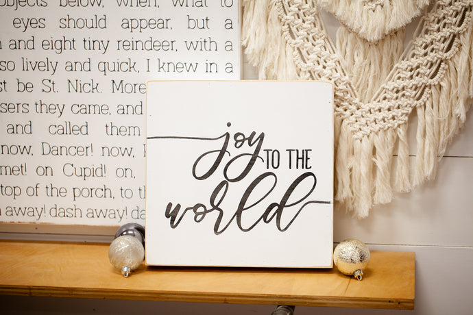 Joy to the World Christmas Wood Sign