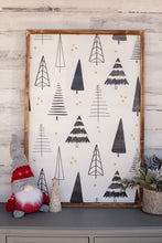 Christmas Tree Background Wood Sign