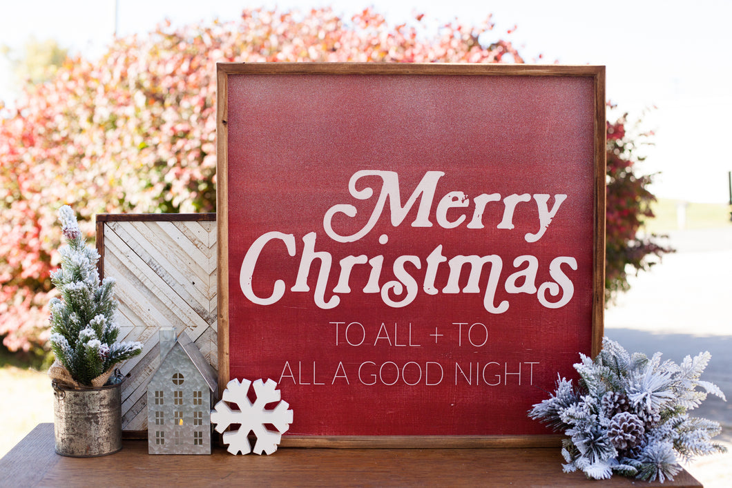 Merry Christmas To All.Merry Christmas To All To All A Good Night Our Kindred Home