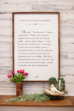 The Velveteen Rabbit Wood Frame Sign