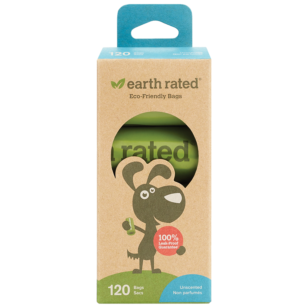 Earth Rated Biodegradable Poop Bags - 8 Rolls (120 Bags)