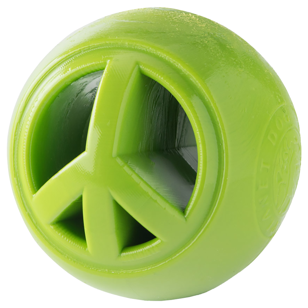 Planet Dog Orbee-Tuff Nook Peace Sign Ball