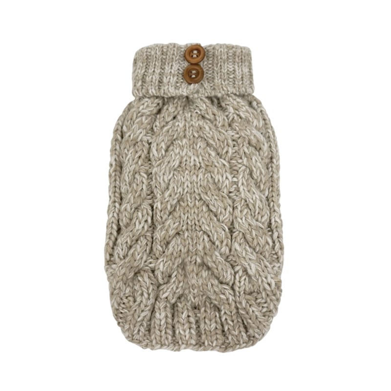FouFou Cable Knit Sweater - Oatmeal