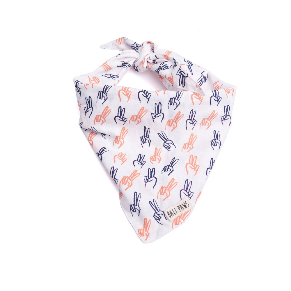 The Paws Bali Bandana - Spread Peace