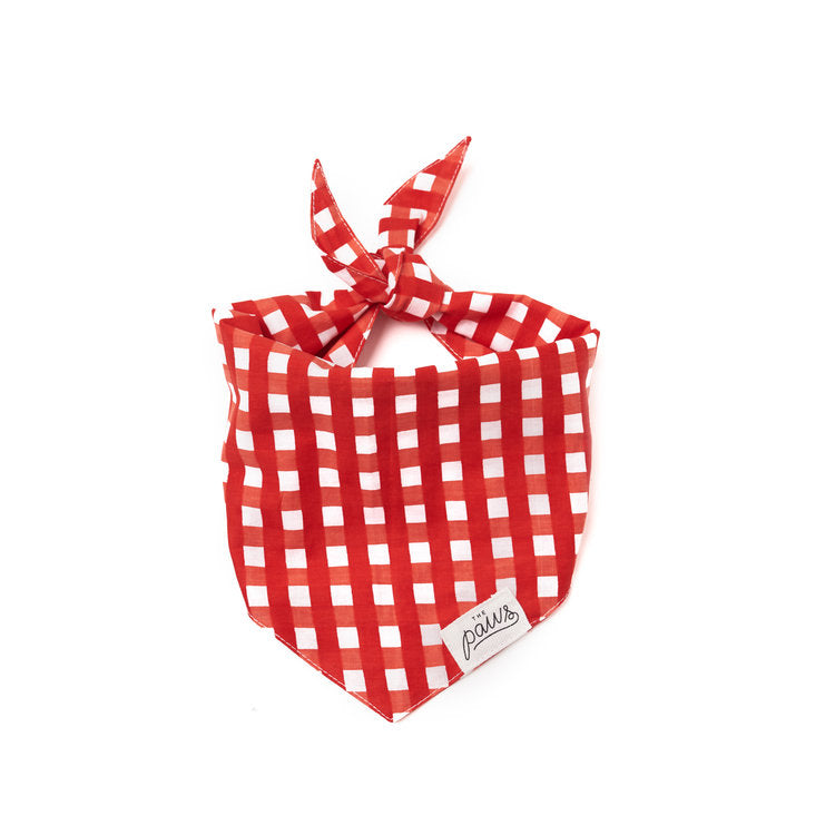 The Paws Bali Bandana - Red Check