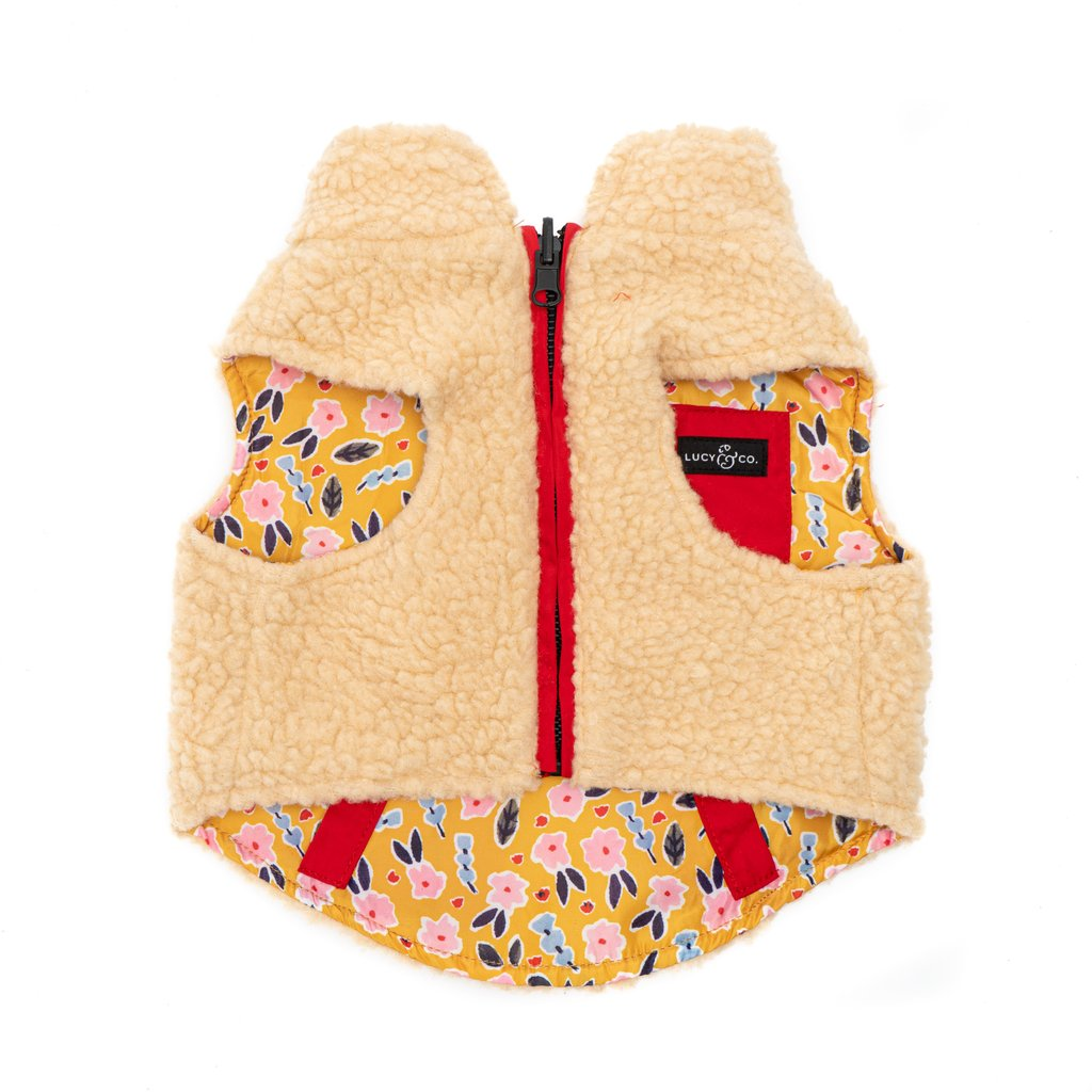 Lucy & Co Reversible Teddy Vest - Little Lamb