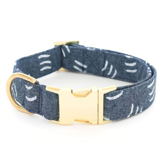 the Foggy Dog Denim Waves Dog Collar