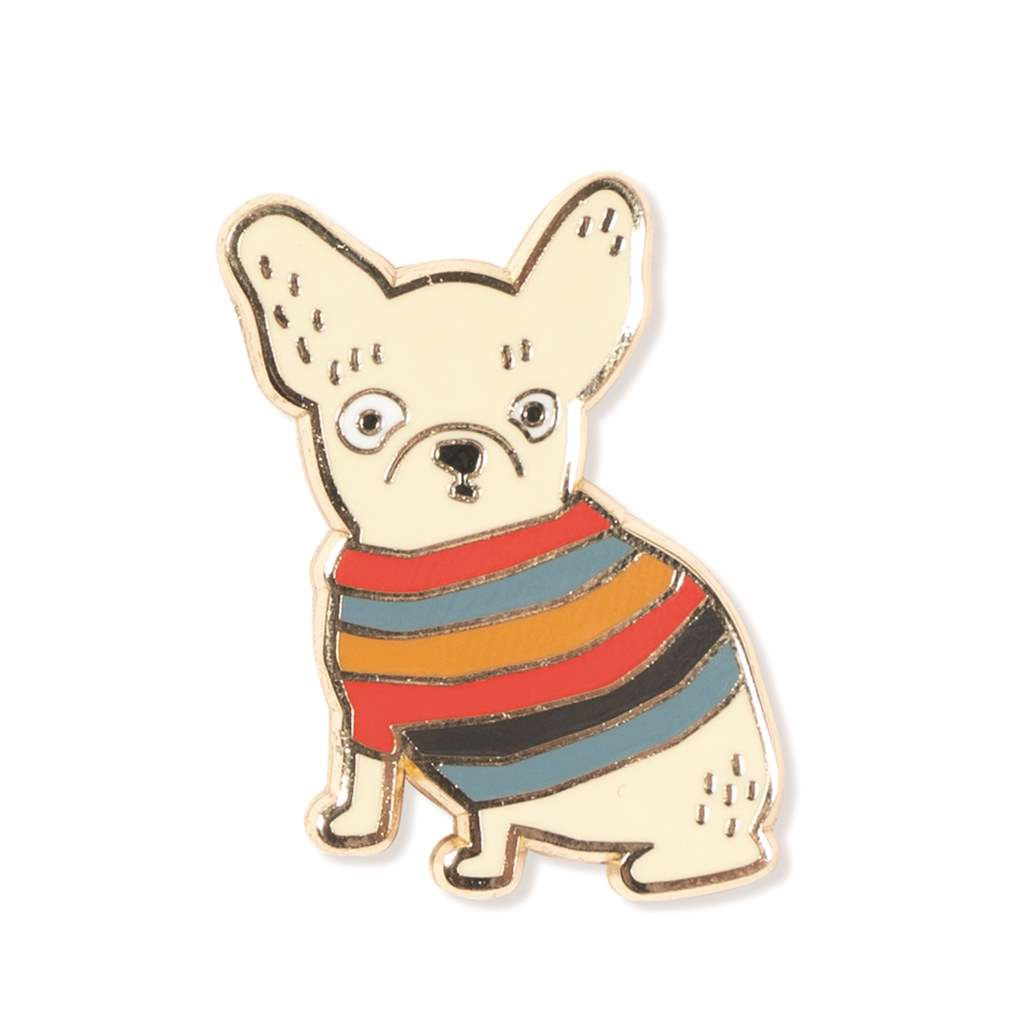 Fringe Studio - Weird Frenchie Enamel Pin