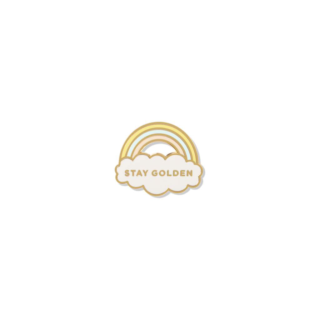 Fringe Studio - Stay Golden Enamel Pin