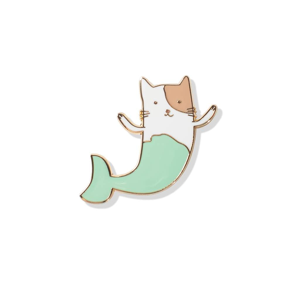 Fringe Studio - Mermaid Cat Enamel Pin