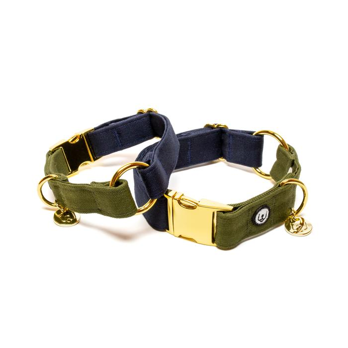Eat Play Wag Collar - Navy/Olive