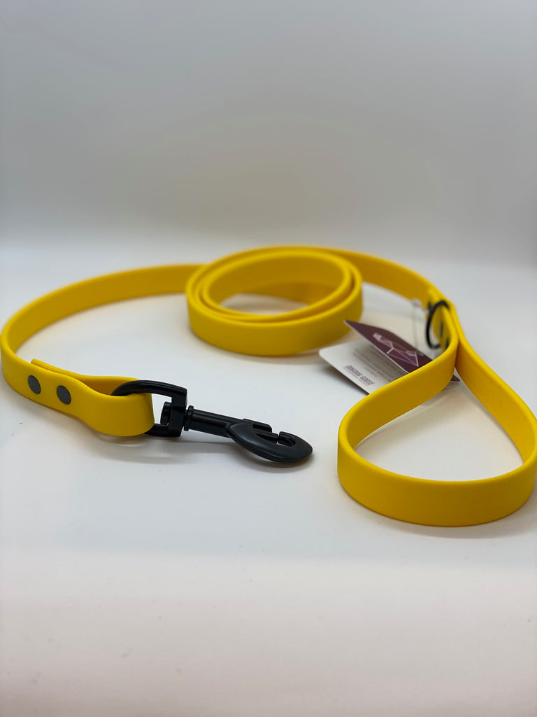 DogDog Goose Biothane Waterproof Leash - Yellow
