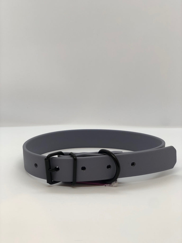 DogDog Goose Biothane Waterproof Collar - Grey + Black