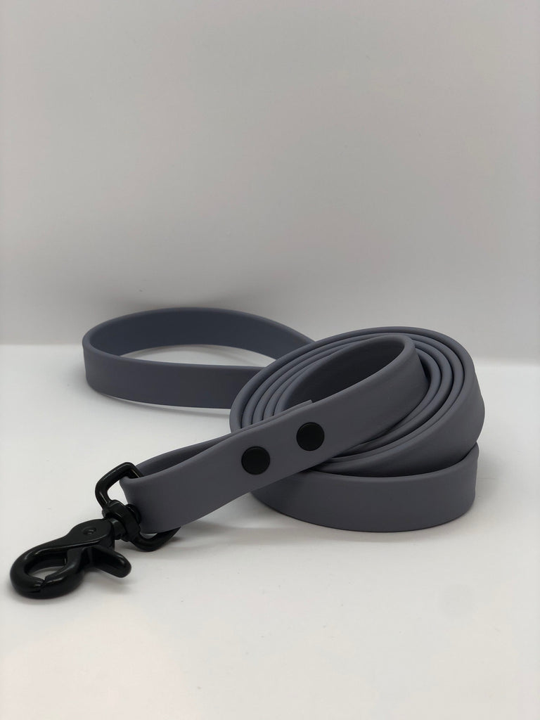 DogDog Goose Biothane Waterproof Leash - Grey + Black