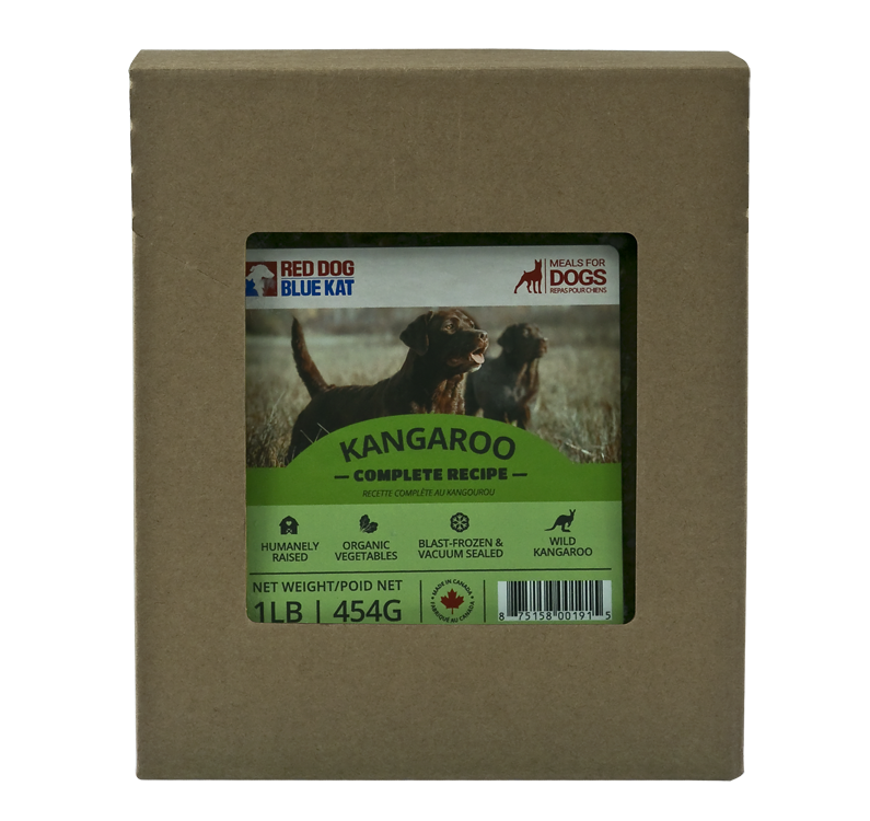 Red Dog Blue Kat Raw Food - Kangaroo Complete - 1 lb Pack