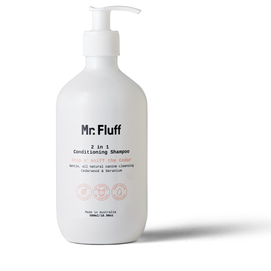 Mr. Fluff 2 in 1 Conditioning Shampoo | Stop n Sniff the Cedar | 500ml