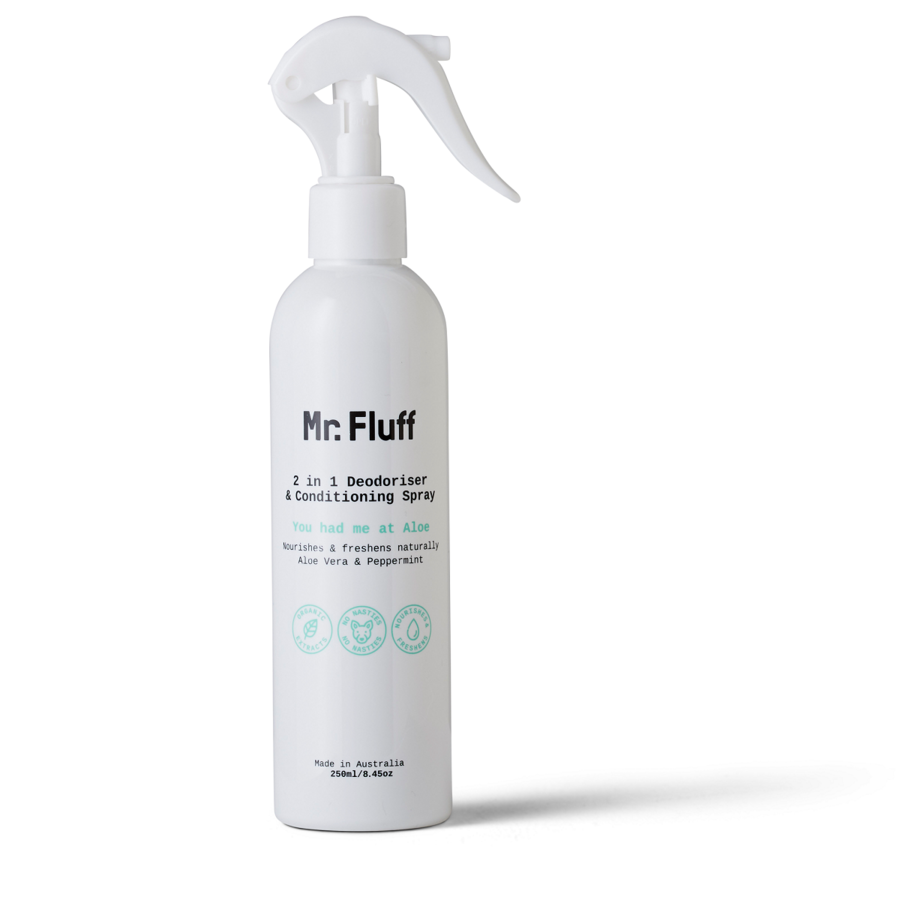 Mr. Fluff 2 in 1 Deodoriser & Conditioning Spray | You had me at Aloe | 250ml
