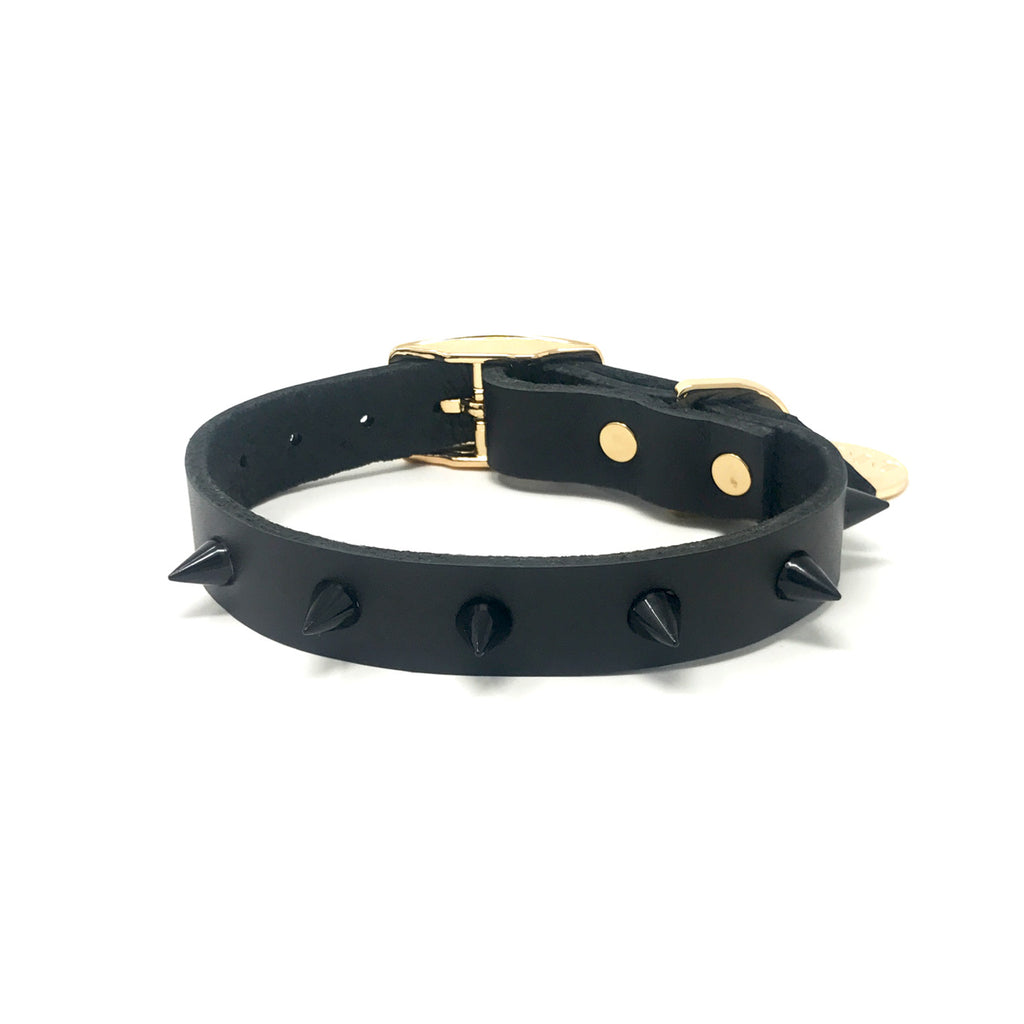 Nice Digs Spiked Collar - Black