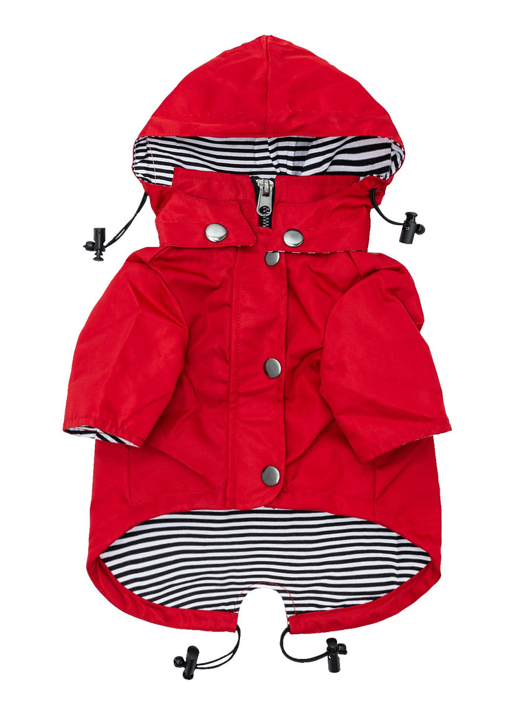 Ellie Dog Wear Raincoat - Red