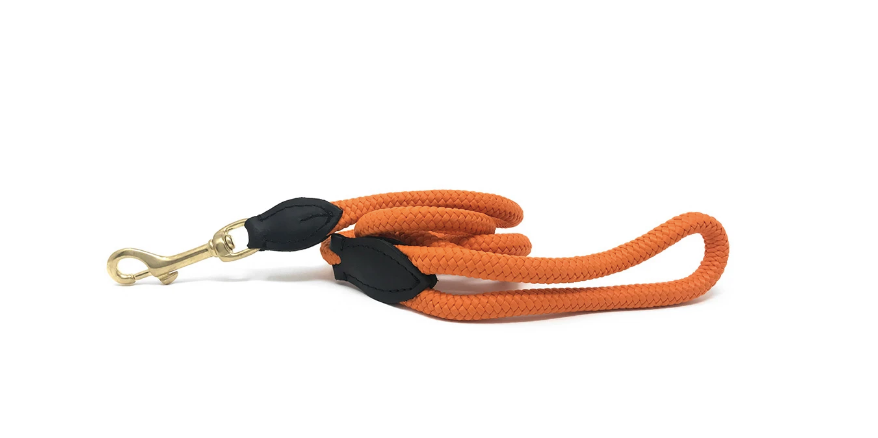 Nice Digs Orange Rope Leash