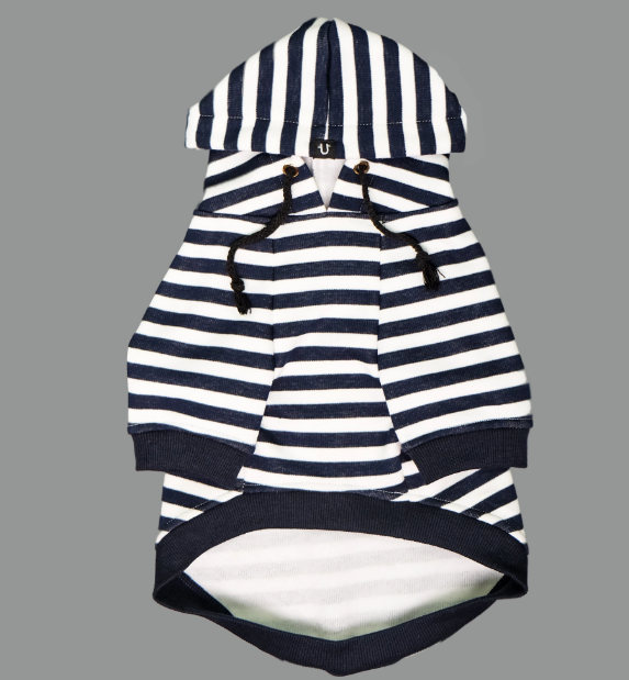 Pet Haus Navy Striped Hoody