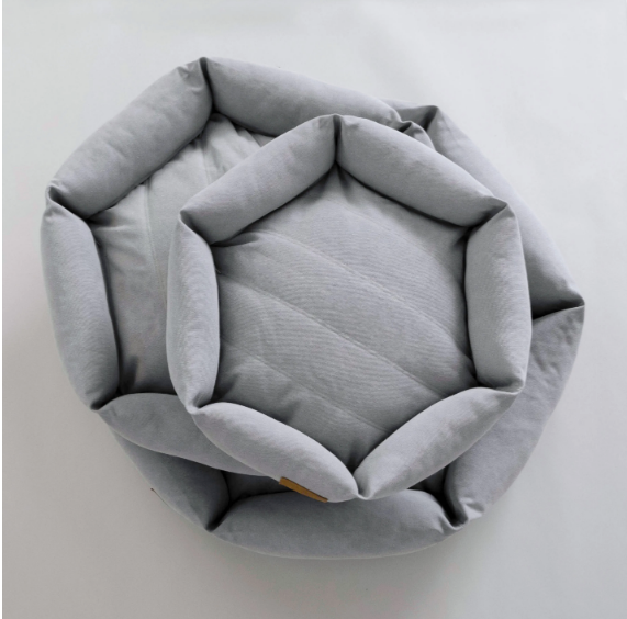 WAITING LIST - FALL 2021 Velvet Hippo Hex Cushion Bed - Stone